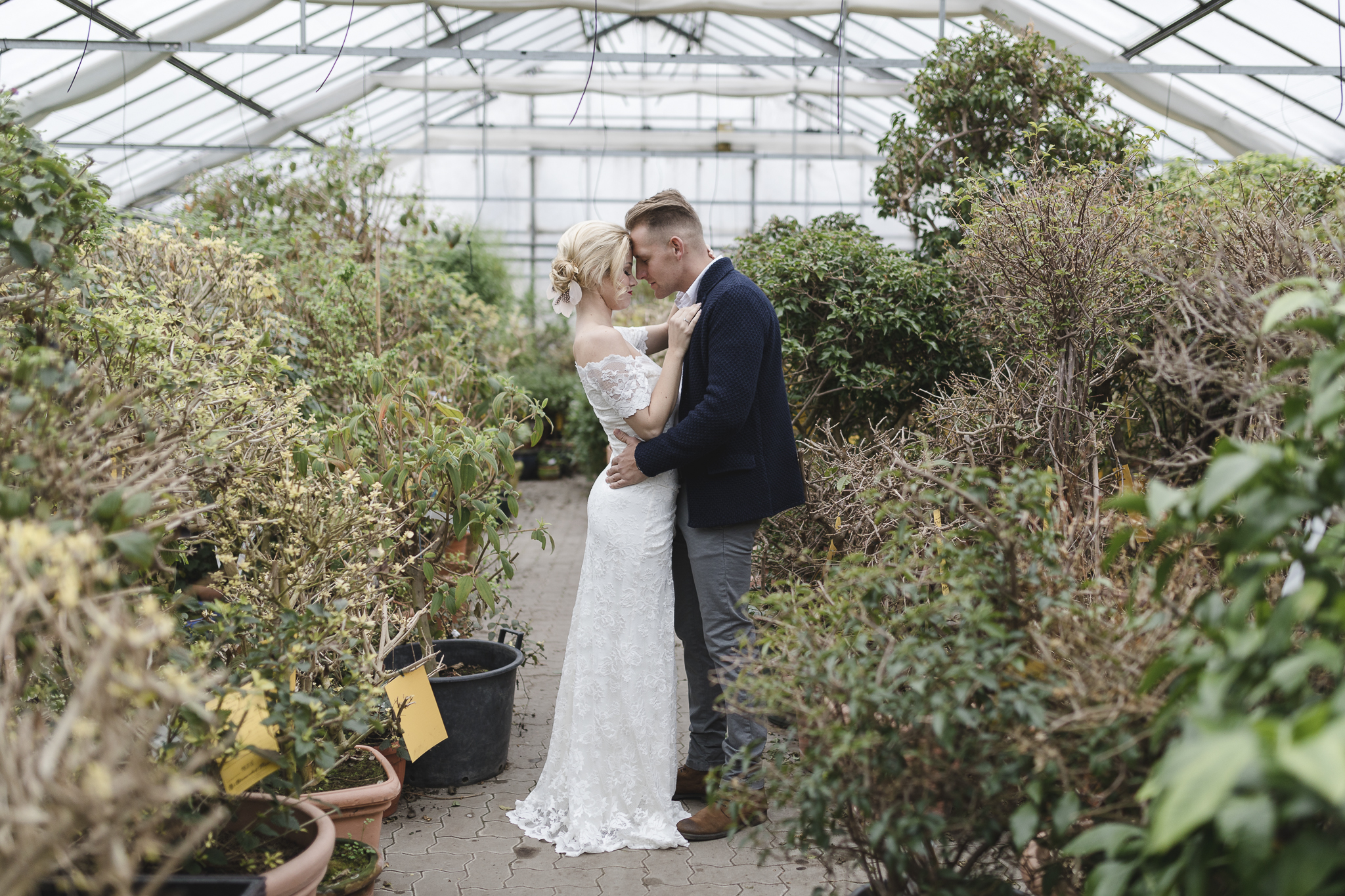 Hochzeitsfotograf Hamburg - Hochzeitsfotos im Gewächshaus