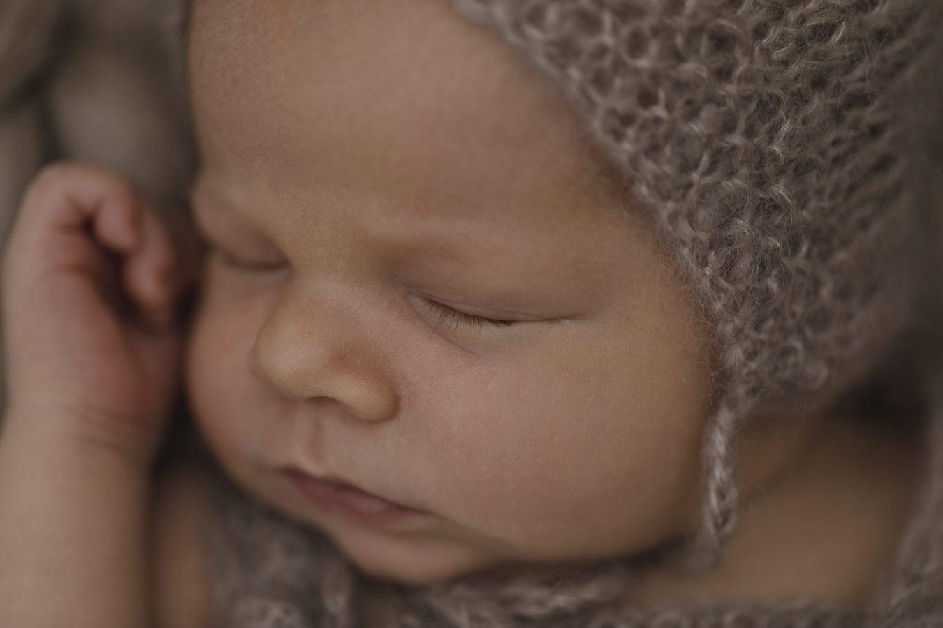 Babyfotograf Hamburg - Nahaufnahme vom Babygesicht