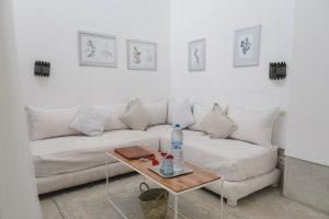 der Wohnbereich in meinem Riad in Marrakech
