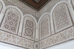 orientalische Ornamente an den Häusern in Marrakech