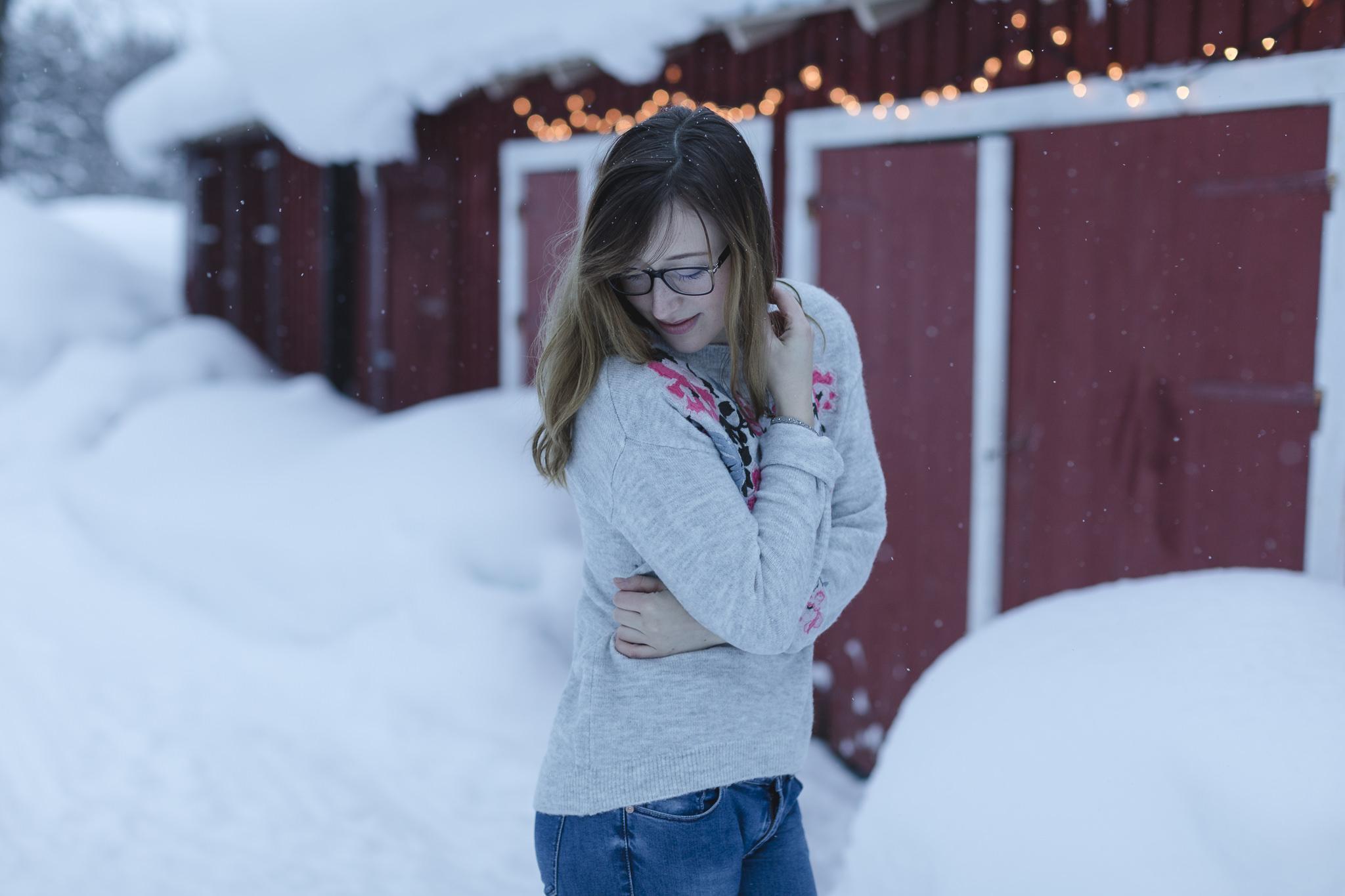 Portrait einer Teilnehmerin beim Fotoworkshop in Lappland