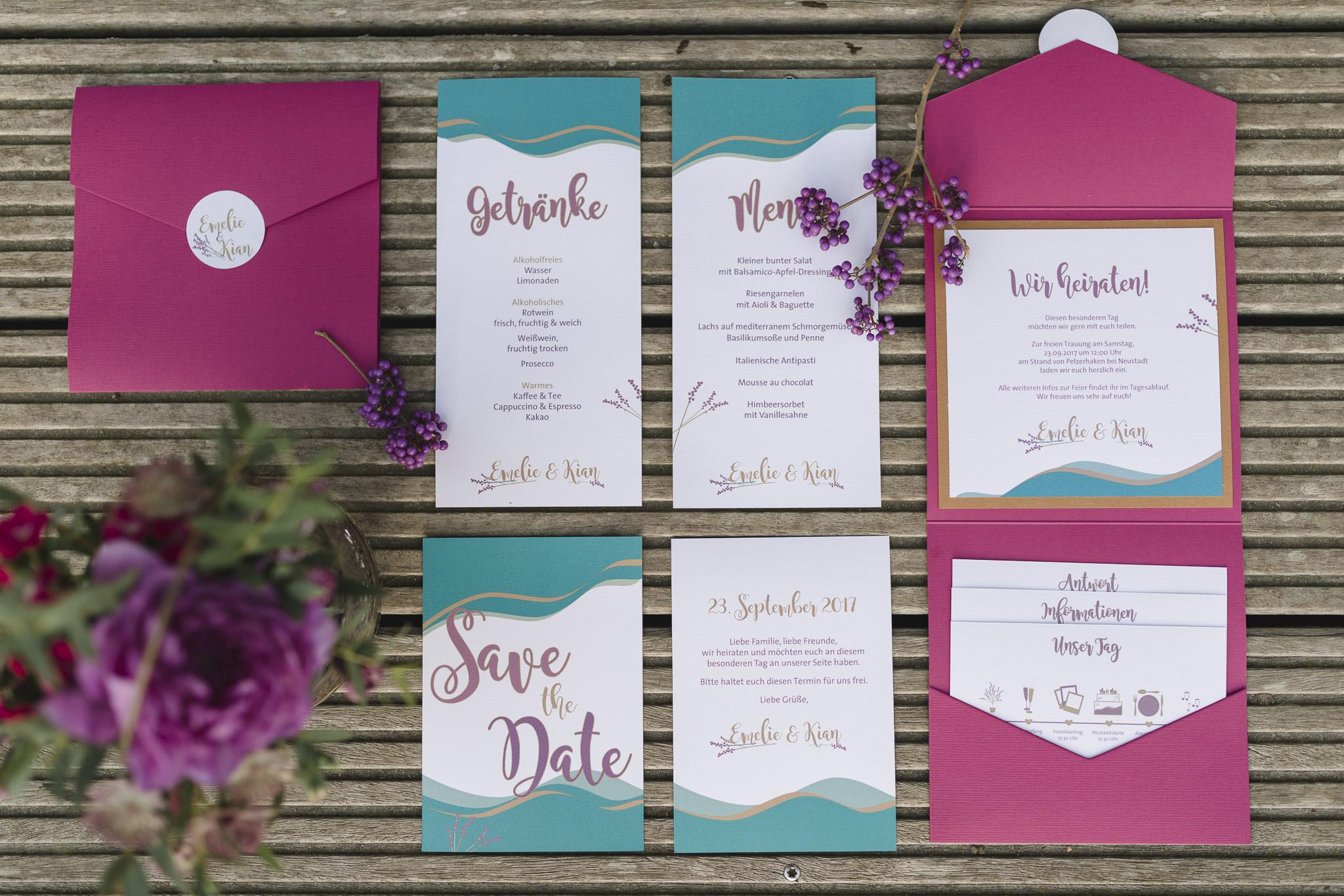 Hochzeitsfotograf Hamburg - Strandhochzeit - Papeterie für die Hochzeit