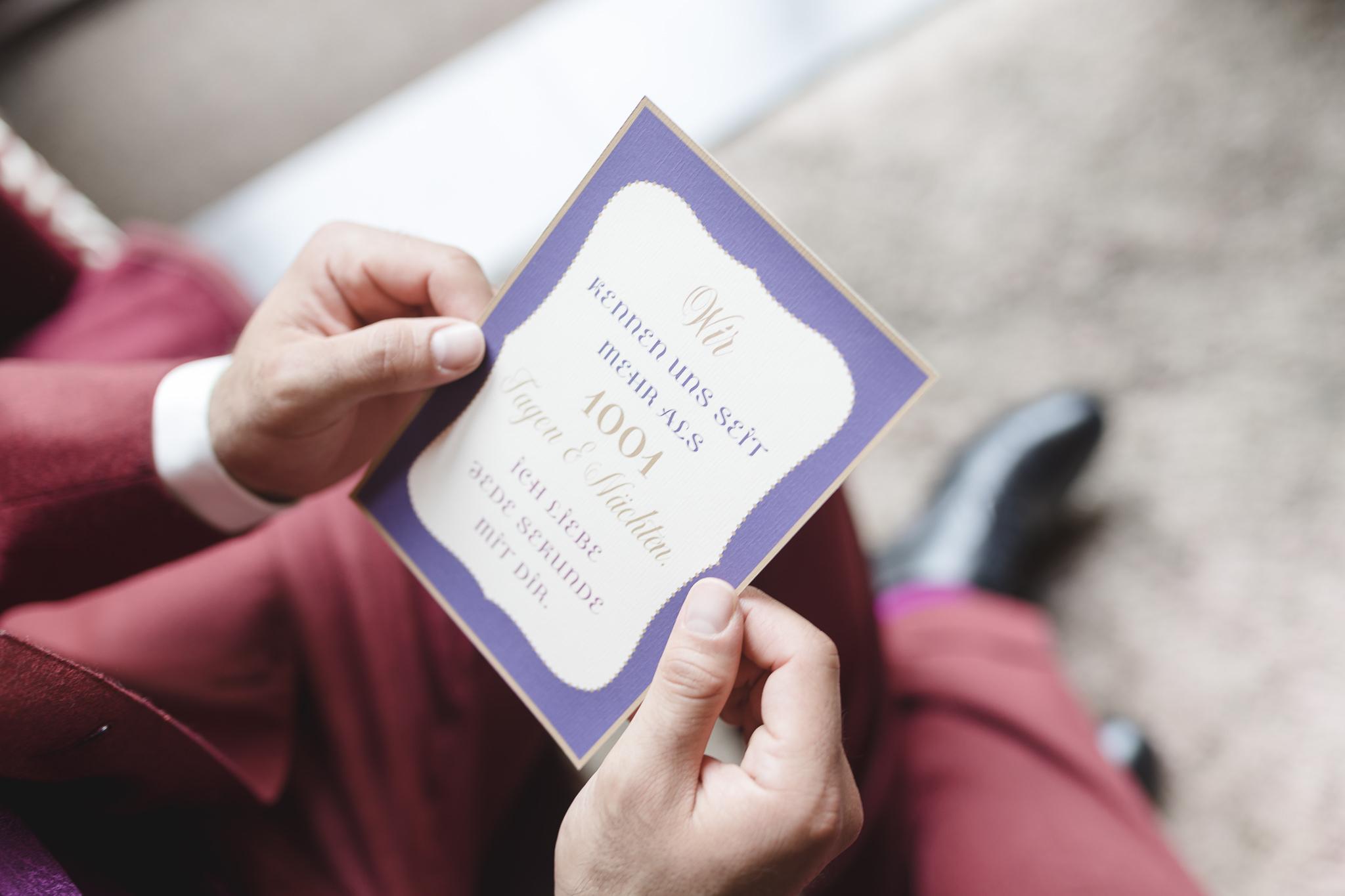 Hochzeitspapeteire - das Eheversprechen