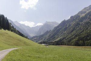 Alpenüberquerung auf dem E5 - Start der Tour in Spielmannsau