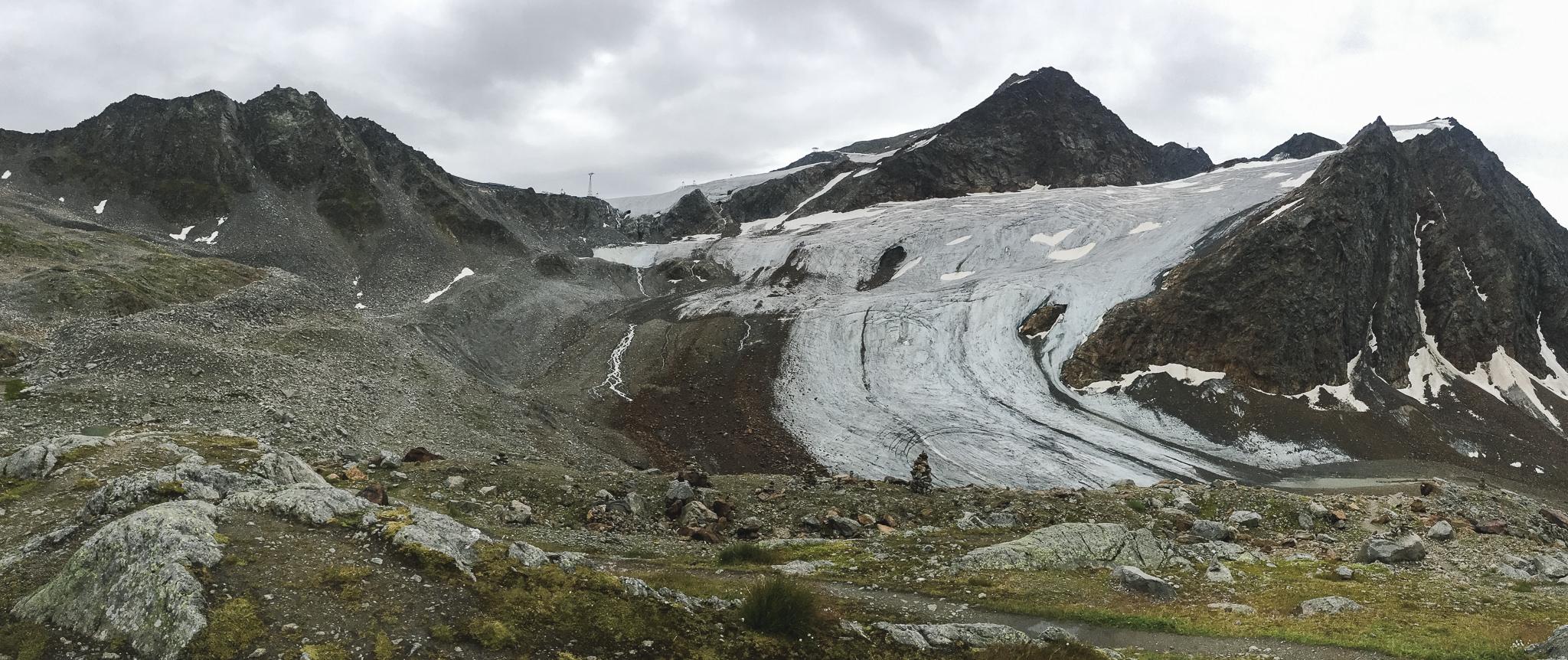 Ausblick auf den Gletscher von der Braunschweiger Hütte