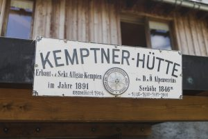 Alpenüberquerung auf dem E5 - erster Halt an der Kemptner Hütte
