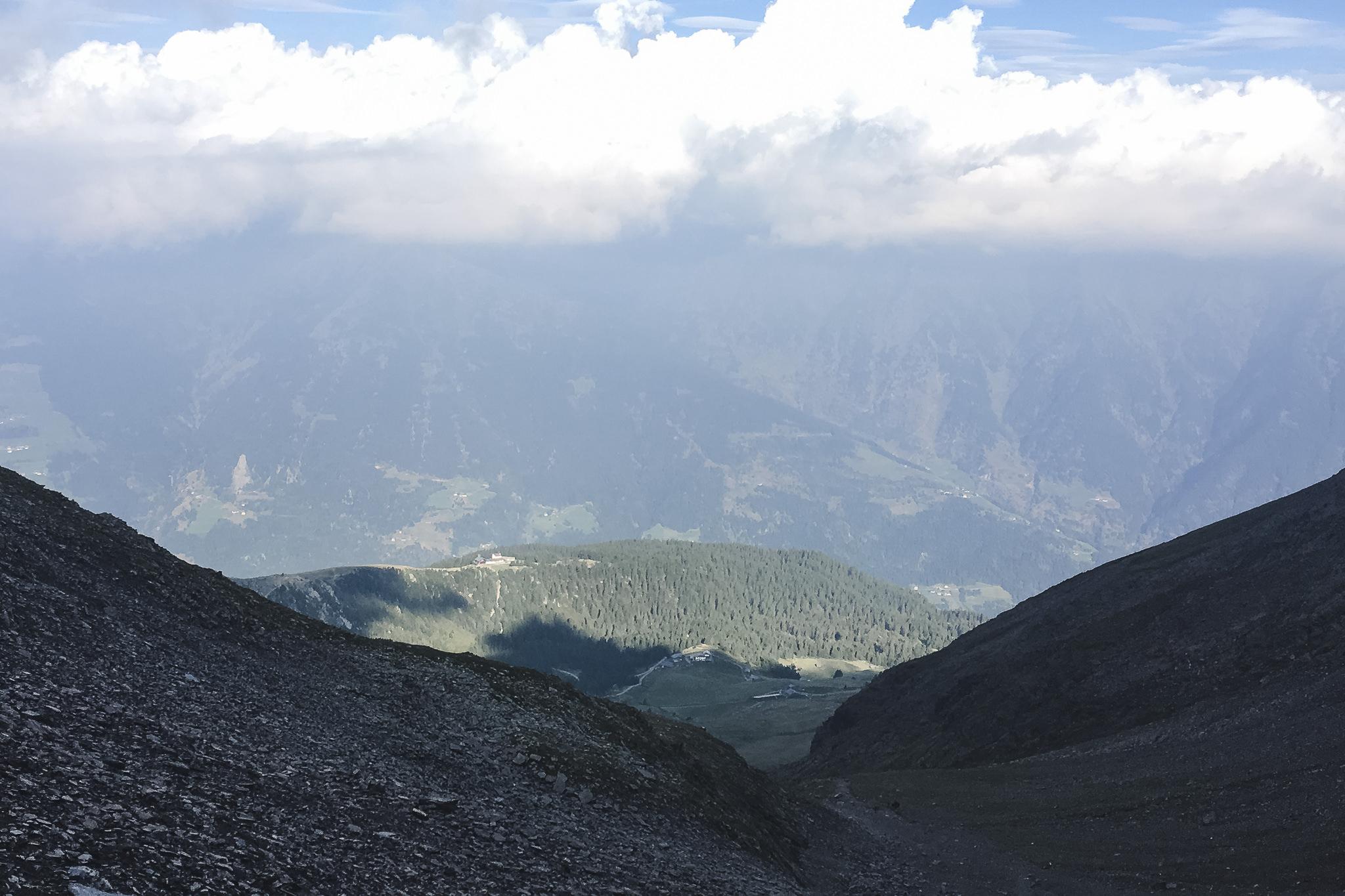 der letzte Aufstieg auf dem Weg nach Meran führte uns auf den Hirzer