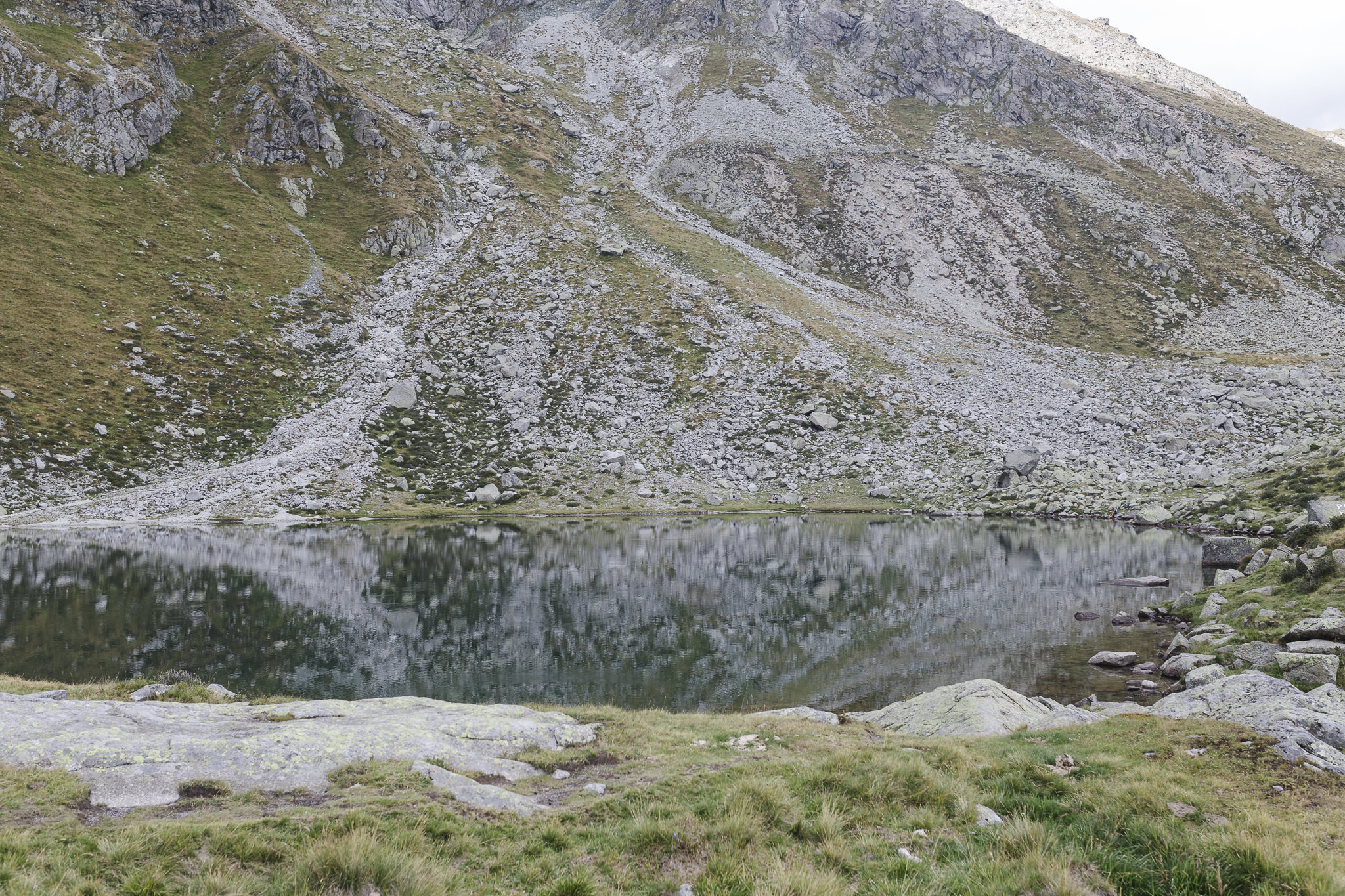 der Kratzberger See am E5 kurz vor Meran