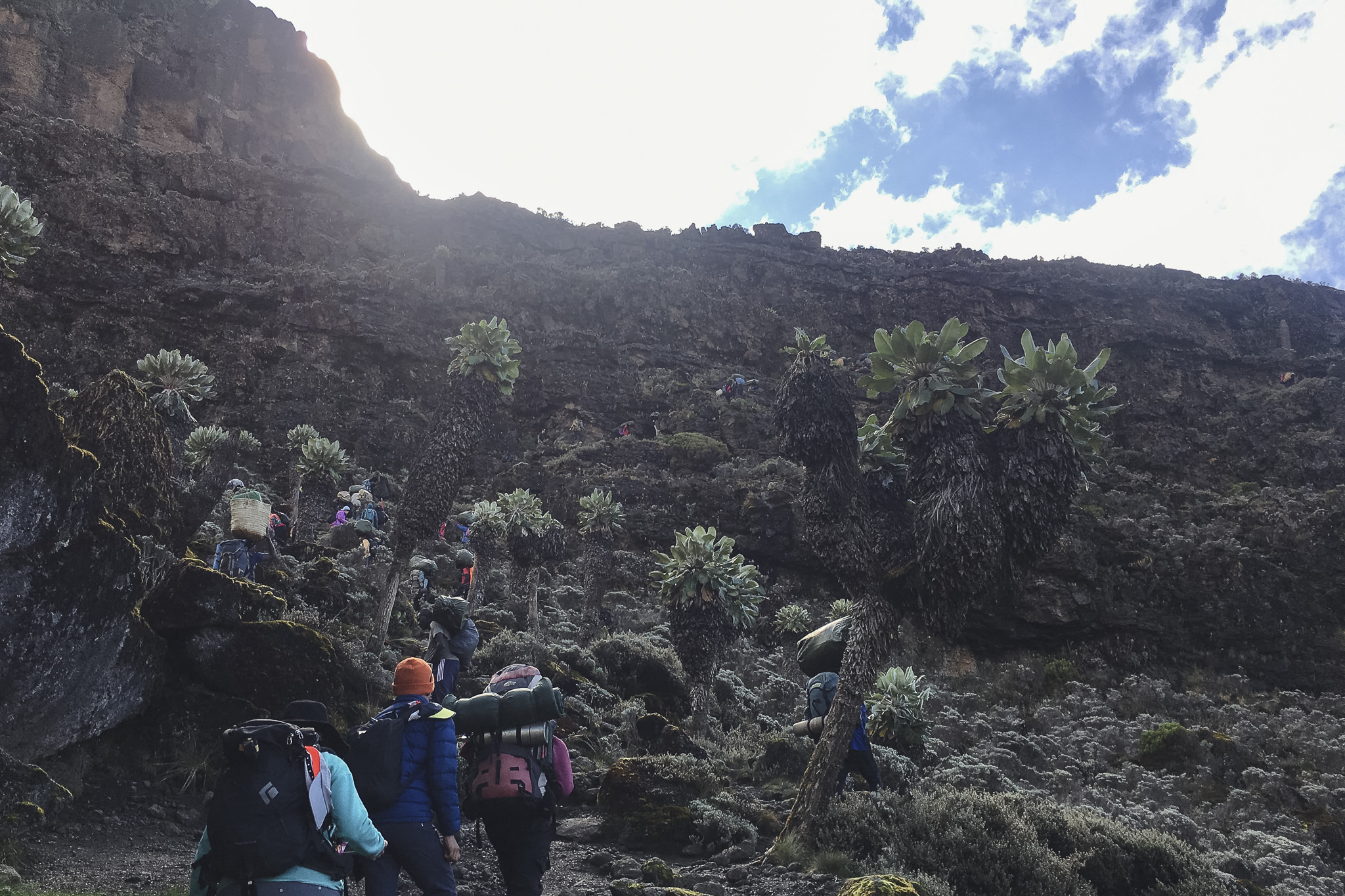 Aufstieg in der Barranco Wall