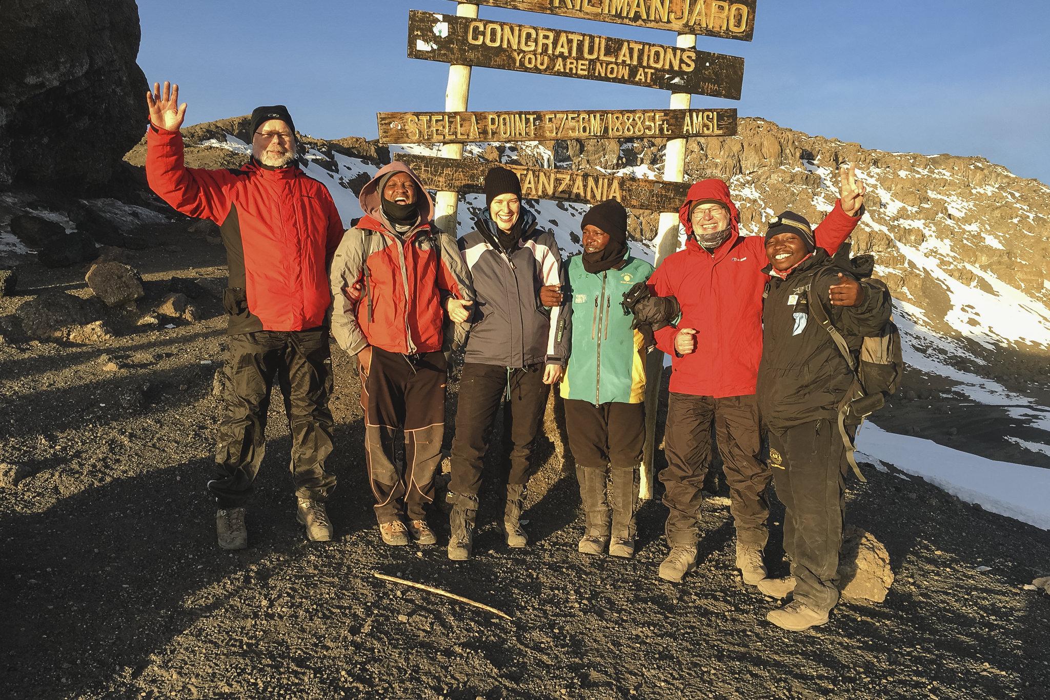 Kilimanjaro Gipfel - wir stehen am Stella Point