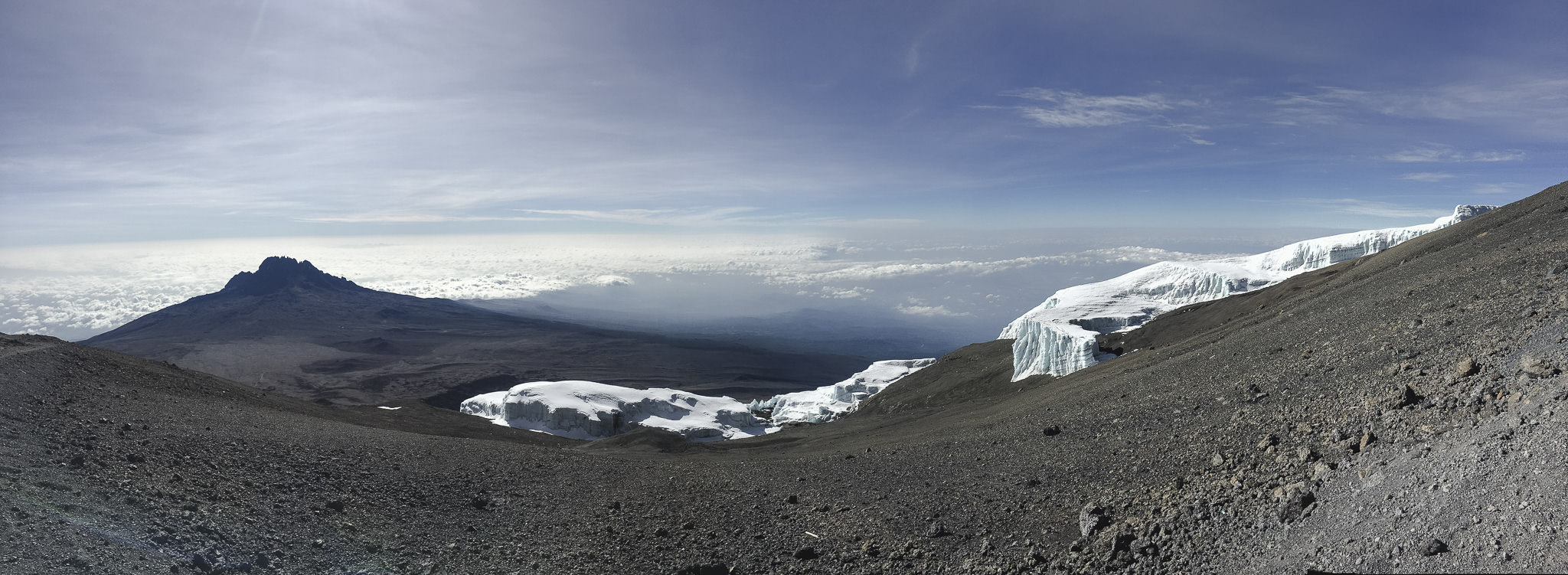Panoramabild Kilimanjaro Gipfel